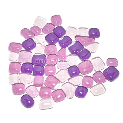 不規則圓角水晶馬賽克-紫混色