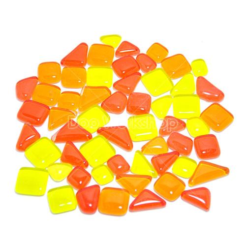 不規則圓角水晶馬賽克-紅橙黃