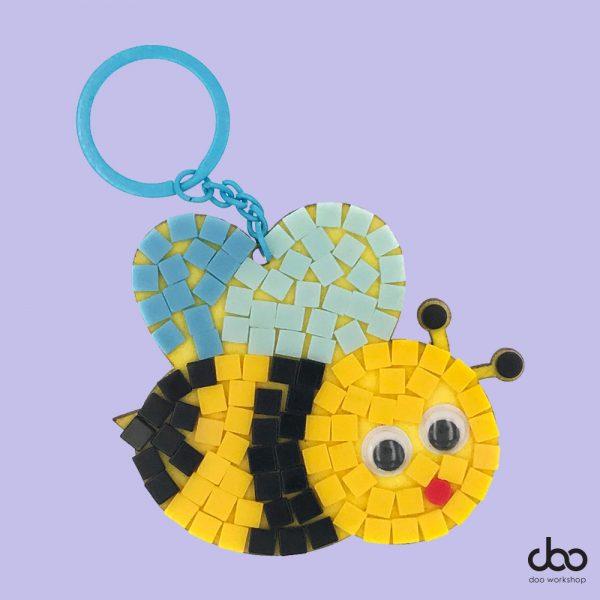 馬賽克蜜蜂匙扣DIY材料包