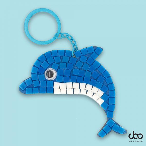 馬賽克海豚匙扣DIY材料包