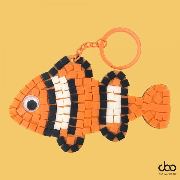 馬賽克小魚匙扣DIY材料包
