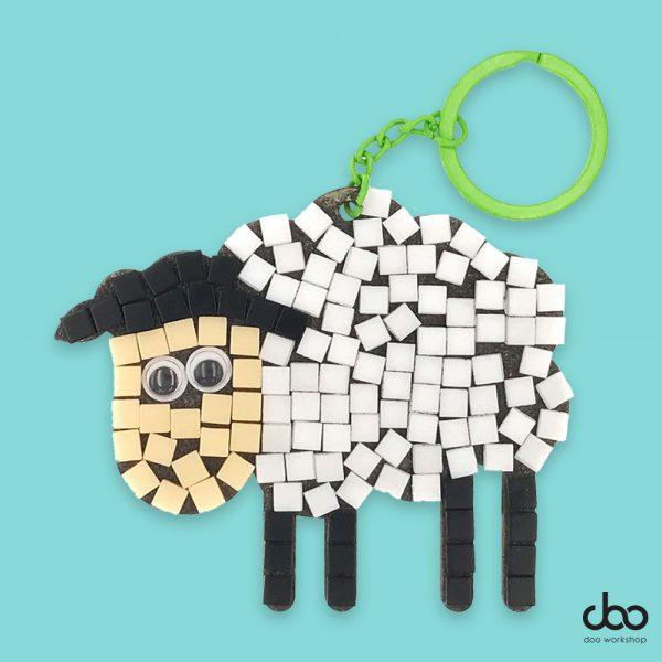 馬賽克小羊匙扣DIY材料包