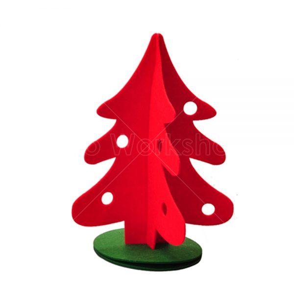 不織布紅色聖誕樹