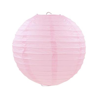 淺粉紅色紙燈籠20CM