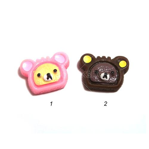 鬆弛熊夾心餅樹脂裝飾