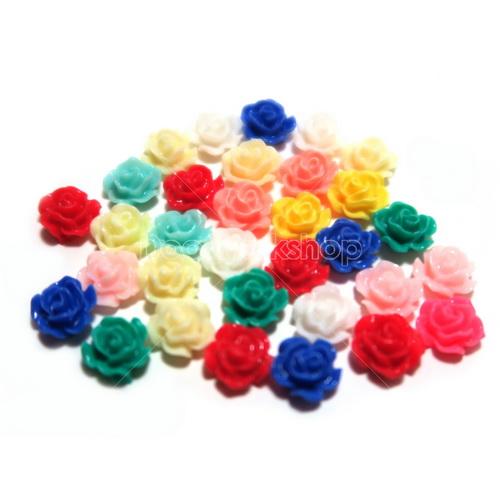 玫瑰花樹脂裝飾 12mm