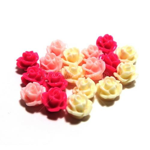 玫瑰花樹脂裝飾8mm