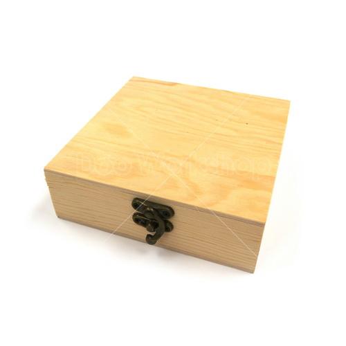 正方形有扣木盒13X13X6.5CM