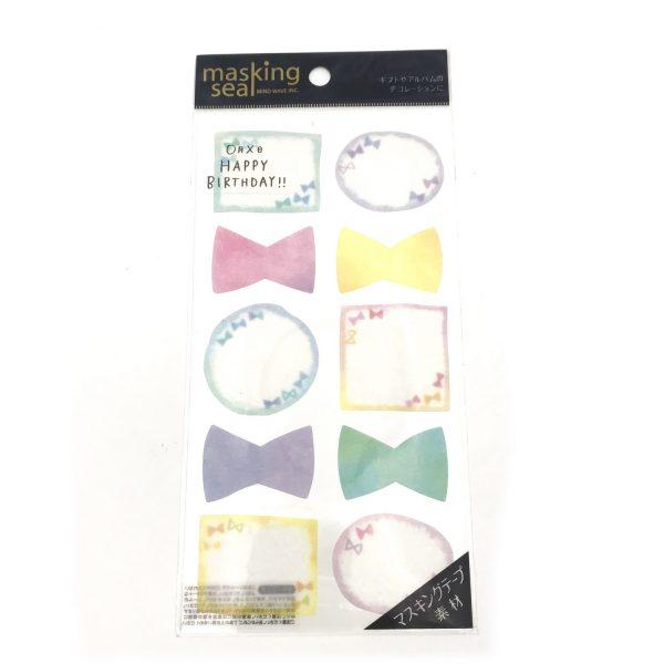 蝴蝶結和纸便利貼貼紙