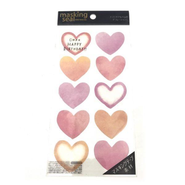 心型和纸便利貼貼紙