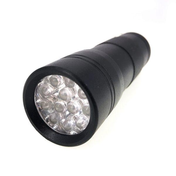 12燈uv膠紫外光燈電筒