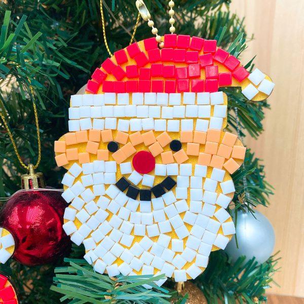 【預訂】聖誕馬賽克聖誕老人掛飾DIY材料包