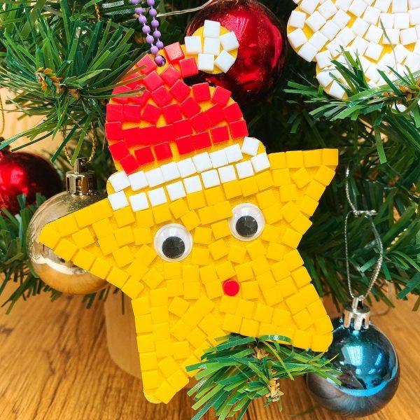 【預訂】聖誕馬賽克星星掛飾DIY材料包