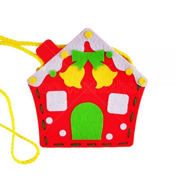 聖誕薑餅屋不織布小袋子DIY材料包