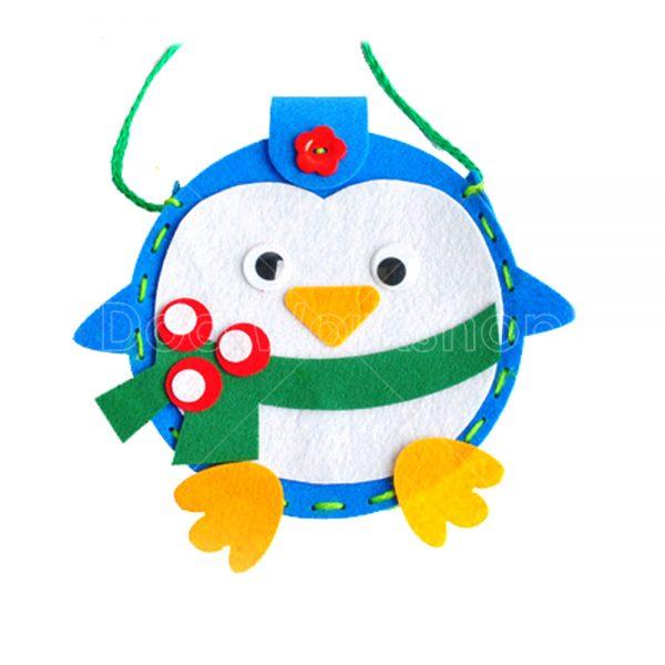 聖誕企鵝不織布小袋子DIY材料包