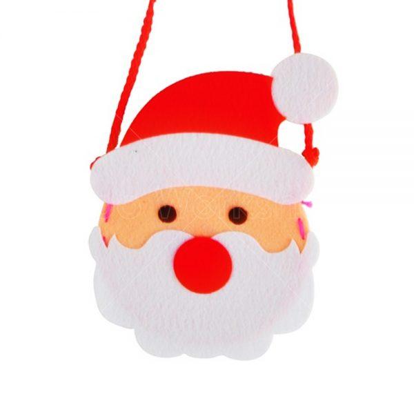 聖誕老人不織布小袋子DIY材料包