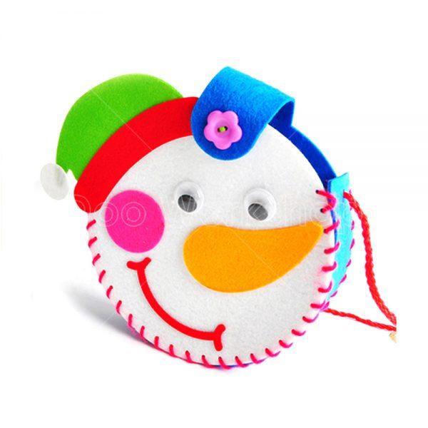 聖誕雪人不織布小袋子DIY材料包