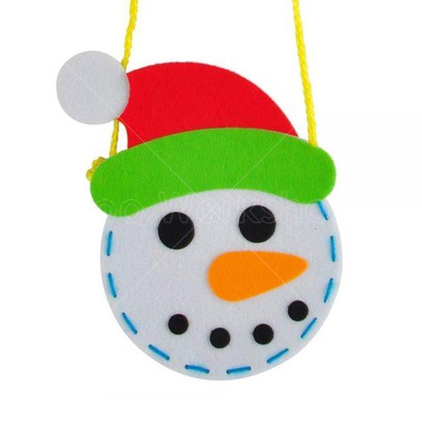 聖誕雪人頭不織布小袋子DIY材料包