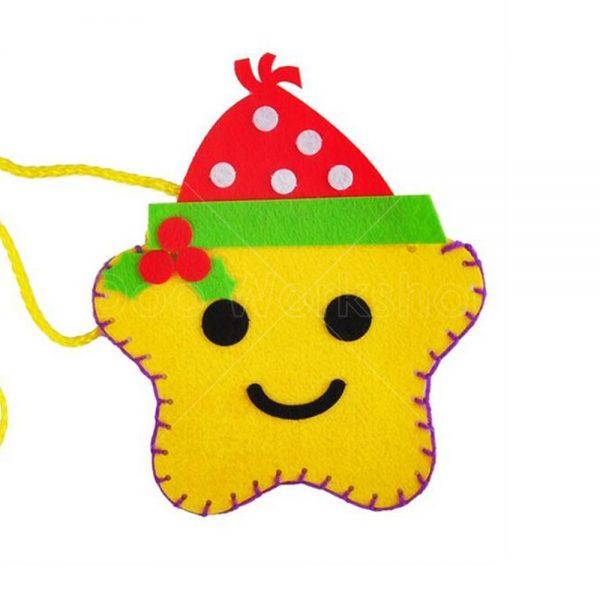聖誕星星不織布小袋子DIY材料包
