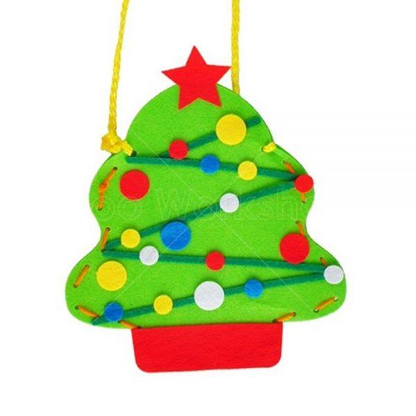 聖誕樹不織布小袋子DIY材料包