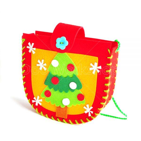 不織布聖誕樹小袋子DIY材料包